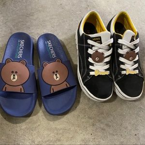 Skechers Line Friends platform Sneaker and slipper